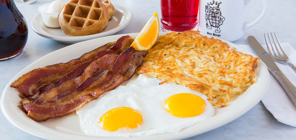 Welcome to the Waffle Spot at the King's Inn Hotel, Located at 1333 Hotel Circle South in Mission Valley.